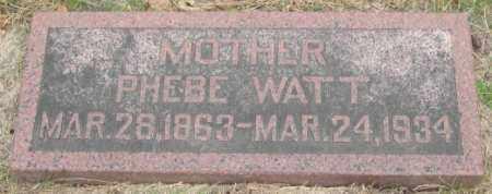 CLEMENTS WATT, PHEBE - Dodge County, Nebraska | PHEBE CLEMENTS WATT - Nebraska Gravestone Photos