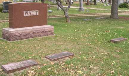 WATT, EDWARD - Dodge County, Nebraska | EDWARD WATT - Nebraska Gravestone Photos