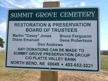 *SUMMIT GROVE, WITH AKA'S - Dodge County, Nebraska | WITH AKA'S *SUMMIT GROVE - Nebraska Gravestone Photos