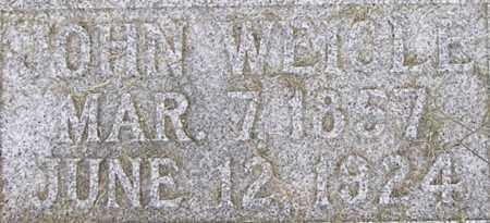 WEIGLE, JOHN - Dodge County, Nebraska | JOHN WEIGLE - Nebraska Gravestone Photos