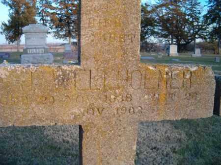 WELLHOENER, J (CLOSE-UP) - Dodge County, Nebraska | J (CLOSE-UP) WELLHOENER - Nebraska Gravestone Photos
