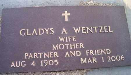 WENTZEL, GLADYS A - Dodge County, Nebraska | GLADYS A WENTZEL - Nebraska Gravestone Photos