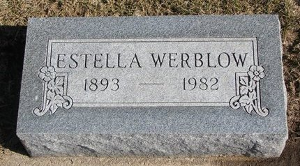 WERBLOW, ESTELLA - Dodge County, Nebraska | ESTELLA WERBLOW - Nebraska Gravestone Photos