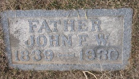 WERBLOW, JOHN F.W. - Dodge County, Nebraska | JOHN F.W. WERBLOW - Nebraska Gravestone Photos
