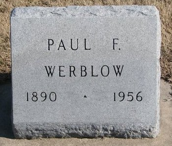 WERBLOW, PAUL F. - Dodge County, Nebraska   PAUL F. WERBLOW - Nebraska Gravestone Photos