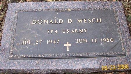 WESCH, DONALD D. - Dodge County, Nebraska | DONALD D. WESCH - Nebraska Gravestone Photos