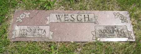 WESCH, HENRIETTA - Dodge County, Nebraska | HENRIETTA WESCH - Nebraska Gravestone Photos