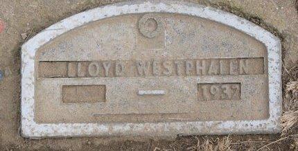 WESTPHALEN, LLOYD - Dodge County, Nebraska | LLOYD WESTPHALEN - Nebraska Gravestone Photos