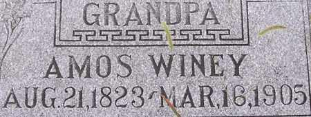 WINEY, AMOS - Dodge County, Nebraska | AMOS WINEY - Nebraska Gravestone Photos