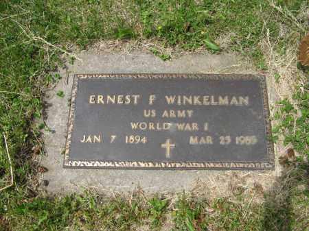 WINKELMAN, ERNEST F. (MILITARY MARKER) - Dodge County, Nebraska   ERNEST F. (MILITARY MARKER) WINKELMAN - Nebraska Gravestone Photos