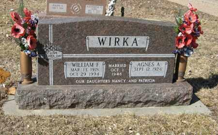 WIRKA, AGNES A. - Dodge County, Nebraska | AGNES A. WIRKA - Nebraska Gravestone Photos