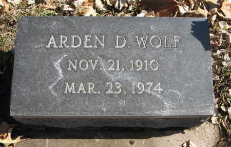 WOLF, ARDEN D. - Dodge County, Nebraska | ARDEN D. WOLF - Nebraska Gravestone Photos