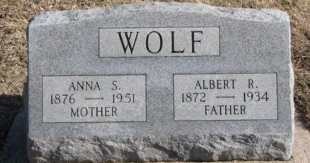 WOLF, ALBERT R. - Dodge County, Nebraska | ALBERT R. WOLF - Nebraska Gravestone Photos