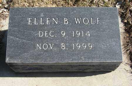 WOLF, ELLEN B. - Dodge County, Nebraska | ELLEN B. WOLF - Nebraska Gravestone Photos