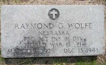 WOLFE, RAYMOND (MILITARY MARKER) - Dodge County, Nebraska | RAYMOND (MILITARY MARKER) WOLFE - Nebraska Gravestone Photos