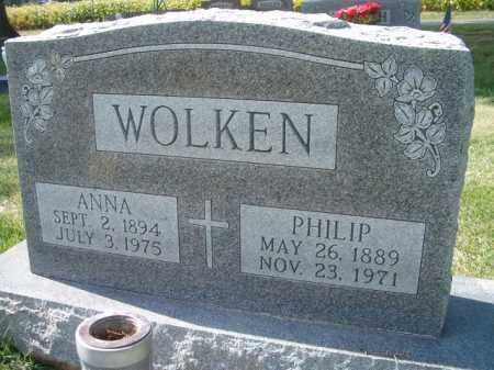 WOLKEN, ANNA - Dodge County, Nebraska | ANNA WOLKEN - Nebraska Gravestone Photos