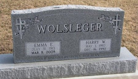 WOLSLEGER, HARRY W. - Dodge County, Nebraska | HARRY W. WOLSLEGER - Nebraska Gravestone Photos