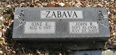 ZABAVA, JOHN R. - Dodge County, Nebraska | JOHN R. ZABAVA - Nebraska Gravestone Photos