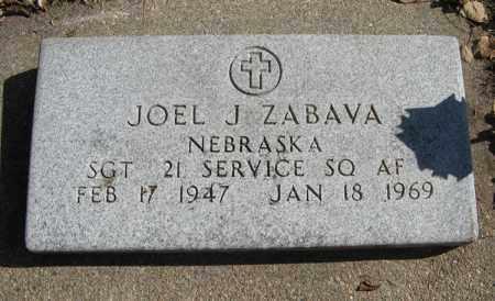 ZABAVA, JOEL J. (MILITARY MARKER) - Dodge County, Nebraska | JOEL J. (MILITARY MARKER) ZABAVA - Nebraska Gravestone Photos