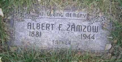 ZAMZOW, ALBERT F - Dodge County, Nebraska | ALBERT F ZAMZOW - Nebraska Gravestone Photos
