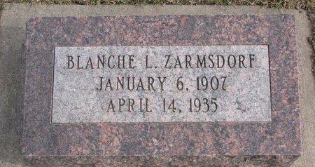 ZARMSDORF, BLANCHE L. - Dodge County, Nebraska | BLANCHE L. ZARMSDORF - Nebraska Gravestone Photos