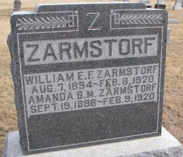 ZARMSTORF, WILLIAM E.F. - Dodge County, Nebraska   WILLIAM E.F. ZARMSTORF - Nebraska Gravestone Photos