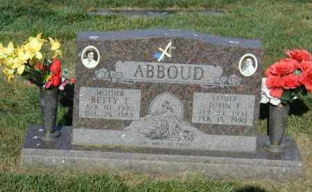 ABBOUD, BETTY E. - Douglas County, Nebraska | BETTY E. ABBOUD - Nebraska Gravestone Photos
