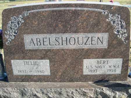ABELSHOUZEN, TILLIE - Douglas County, Nebraska | TILLIE ABELSHOUZEN - Nebraska Gravestone Photos