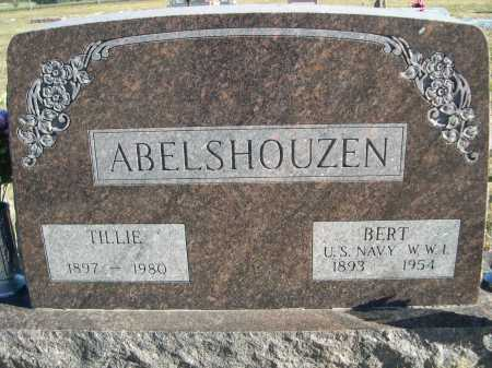 ABELSHOUZEN, BERT - Douglas County, Nebraska | BERT ABELSHOUZEN - Nebraska Gravestone Photos