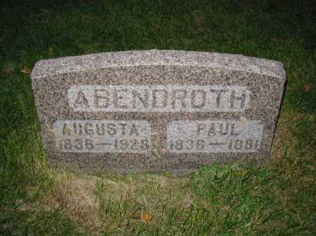 ABENDROTH, PAUL - Douglas County, Nebraska | PAUL ABENDROTH - Nebraska Gravestone Photos