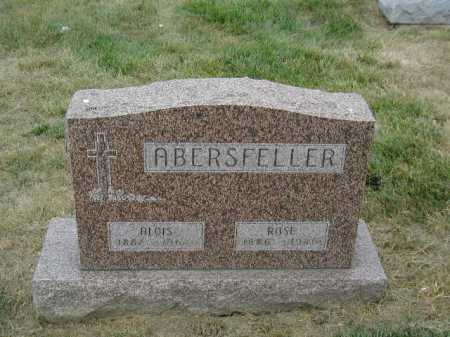 ABERSFELLER, ALOIS - Douglas County, Nebraska | ALOIS ABERSFELLER - Nebraska Gravestone Photos