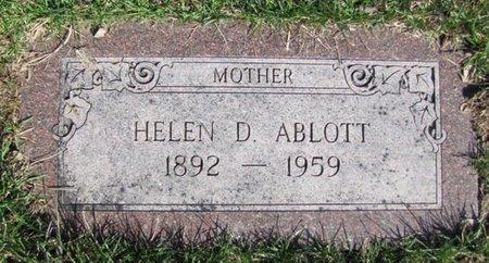 ABLOTT, HELEN D. - Douglas County, Nebraska | HELEN D. ABLOTT - Nebraska Gravestone Photos