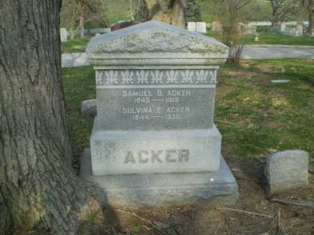 ACKER, SAMUEL D. - Douglas County, Nebraska   SAMUEL D. ACKER - Nebraska Gravestone Photos