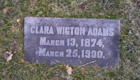ADAMS, CLARA - Douglas County, Nebraska   CLARA ADAMS - Nebraska Gravestone Photos