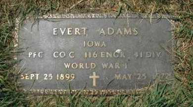 ADAMS, EVERT - Douglas County, Nebraska | EVERT ADAMS - Nebraska Gravestone Photos