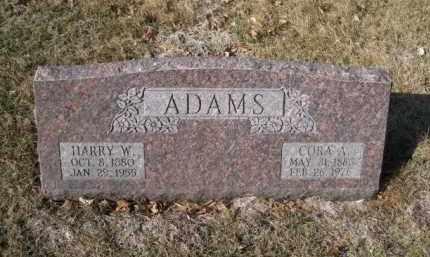 ADAMS, HARRY W. - Douglas County, Nebraska | HARRY W. ADAMS - Nebraska Gravestone Photos