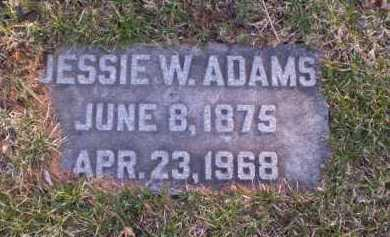 ADAMS, JESSIE W. - Douglas County, Nebraska | JESSIE W. ADAMS - Nebraska Gravestone Photos