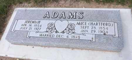 ADAMS, JEREMIAH - Douglas County, Nebraska | JEREMIAH ADAMS - Nebraska Gravestone Photos
