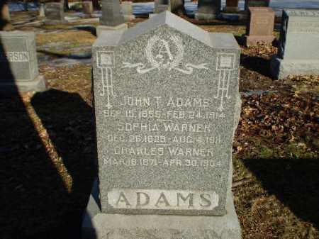 ADAMS, JOHN T - Douglas County, Nebraska | JOHN T ADAMS - Nebraska Gravestone Photos