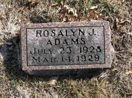 ADAMS, ROSALYN J. - Douglas County, Nebraska   ROSALYN J. ADAMS - Nebraska Gravestone Photos