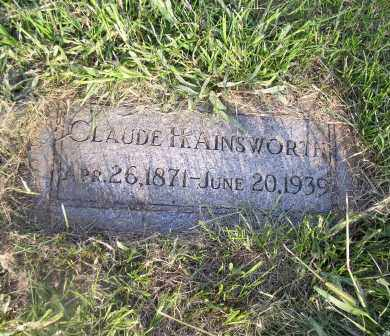 AINSWORTH, CLAUDE H. - Douglas County, Nebraska   CLAUDE H. AINSWORTH - Nebraska Gravestone Photos