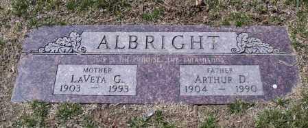 SHIPP ALBRIGHT, LAVETA - Douglas County, Nebraska   LAVETA SHIPP ALBRIGHT - Nebraska Gravestone Photos
