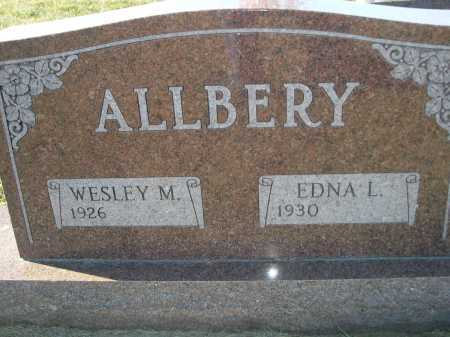 ALLBERY, WESLEY M. - Douglas County, Nebraska | WESLEY M. ALLBERY - Nebraska Gravestone Photos