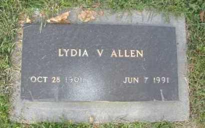 ALLEN, LYDIA V - Douglas County, Nebraska | LYDIA V ALLEN - Nebraska Gravestone Photos