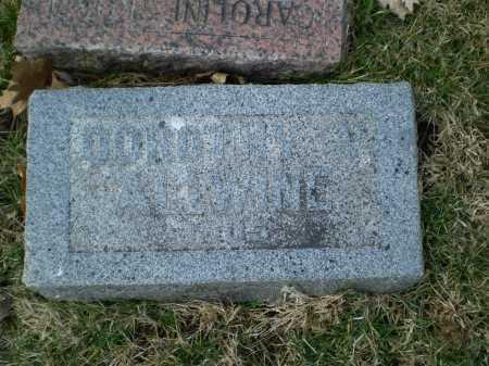 ALLWINE, DOROTHY V - Douglas County, Nebraska   DOROTHY V ALLWINE - Nebraska Gravestone Photos