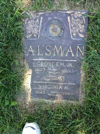ALSMAN, VIRGINIA - Douglas County, Nebraska | VIRGINIA ALSMAN - Nebraska Gravestone Photos