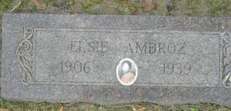 AMBROZ, ELSIE - Douglas County, Nebraska | ELSIE AMBROZ - Nebraska Gravestone Photos