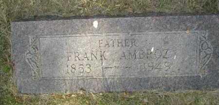 AMBROZ, FRANK - Douglas County, Nebraska   FRANK AMBROZ - Nebraska Gravestone Photos