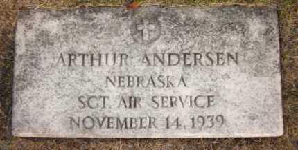 ANDERSEN, ARTHUR - Douglas County, Nebraska   ARTHUR ANDERSEN - Nebraska Gravestone Photos