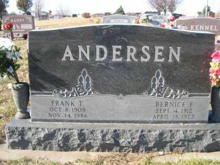 ANDERSEN, FRANK T. - Douglas County, Nebraska | FRANK T. ANDERSEN - Nebraska Gravestone Photos